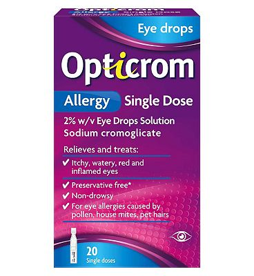 Opticrom Allergy Single Dose 2% w/v Eye Drops - 20 single doses