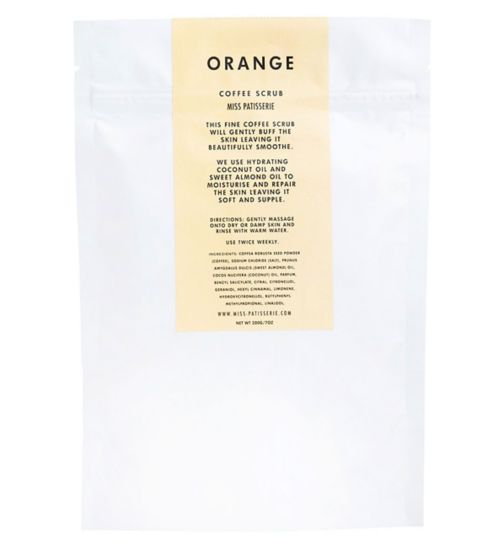 Miss Patisserie orange coffee scrub 200g