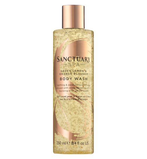 Sanctuary Spa green lemon and orange blossom body wash 250ml