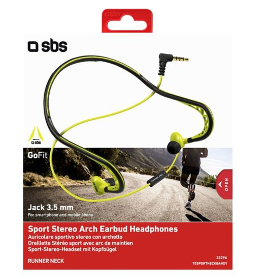 SBS Sports Stereo Arch earbud headphones