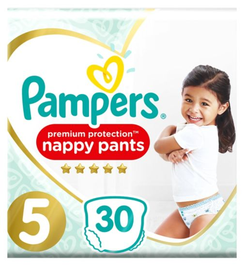 Pampers Premium Active Fit Nappy Pants, Size 5, 11-18Kg, 30 Nappies