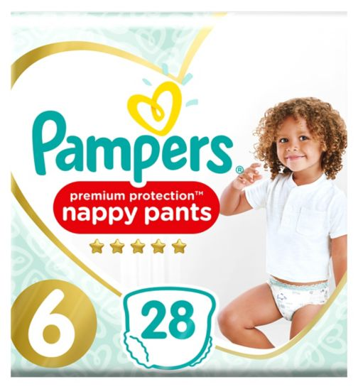 Pampers Premium Active Fit Nappy Pants, Size 6, 15+Kg, 28 Nappies
