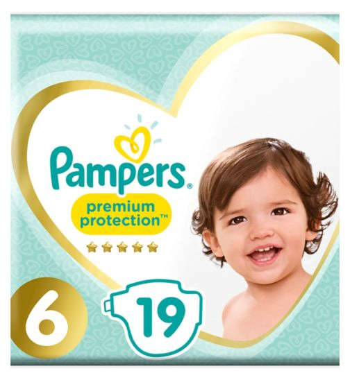 Pampers Premium Protection Size 6, 15+kg, 19 Nappies