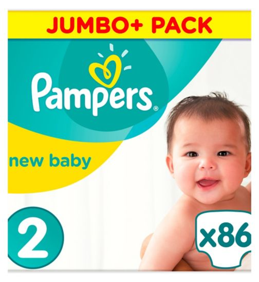 Pampers size 2 Premium Protection new baby nappies jumbo+ 2, 4-8kg 86s