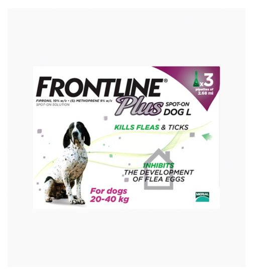 Frontline Plus Spot-On Dog L - 3 x pipettes