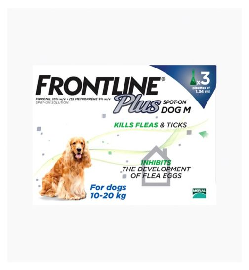 Frontline Plus Spot-On Dog M - 3 x pipettes