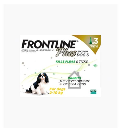 Frontline Plus Spot-On Dog S - 3 x pipettes