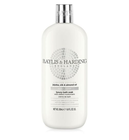 Baylis & Harding Jojoba, Silk & Almond Oil Indulgent Luxury Bath Soak 500ml