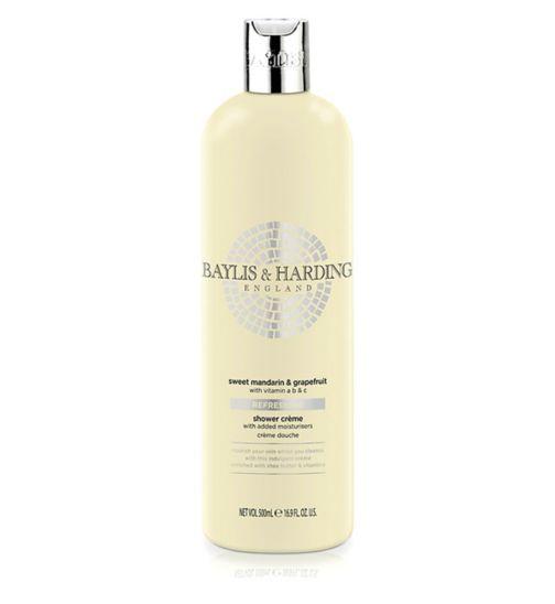 Baylis & Harding Sweet Mandarin & Grapefruit Refreshing Luxury Shower Crème 500ml
