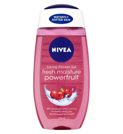 NIVEA® Caring Shower Gel Fresh Moisture Powerfruit 250ml