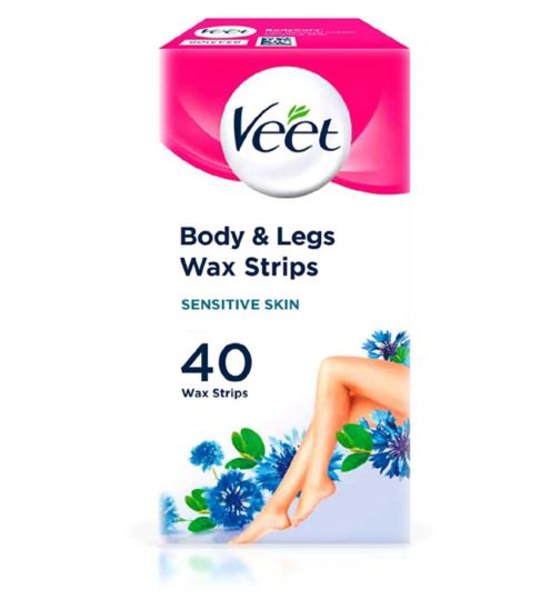 Wax strips face leg bikini female hair removal boots veet 40 wax strips maxi format sensitive skin solutioingenieria