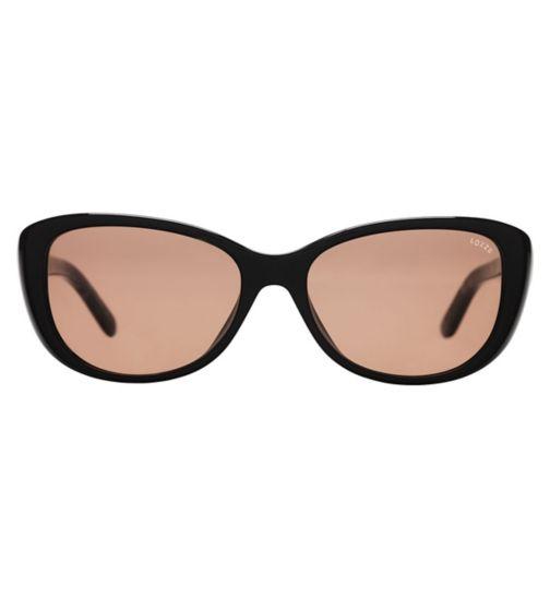 Lozza SL4156 Women's Prescription Sunglasses - Black