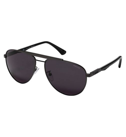 Police SPL364 Men's Prescription Sunglasses - Gunmetal