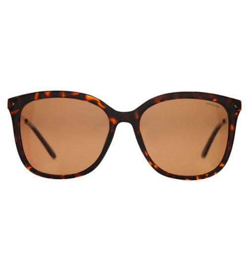 Polraroid PLD4043/S Women's Prescription Sunglasses - Dark havana