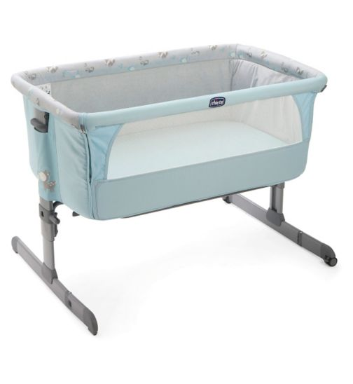 Chicco Next 2 Me Side Sleeping Crib - Sky Blue