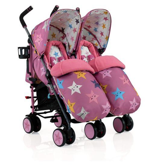 Cosatto Supa Dupa Double Stroller Happy Stars