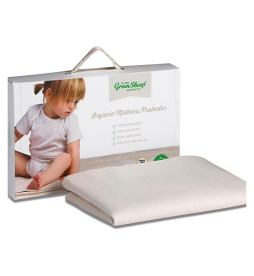 The Little Green Sheep Waterproof Mattress Protector for Chicco Next2Me Cribs