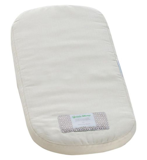 The Little Green Sheep Natural Mattress to fit Clair De Lune Moses Basket