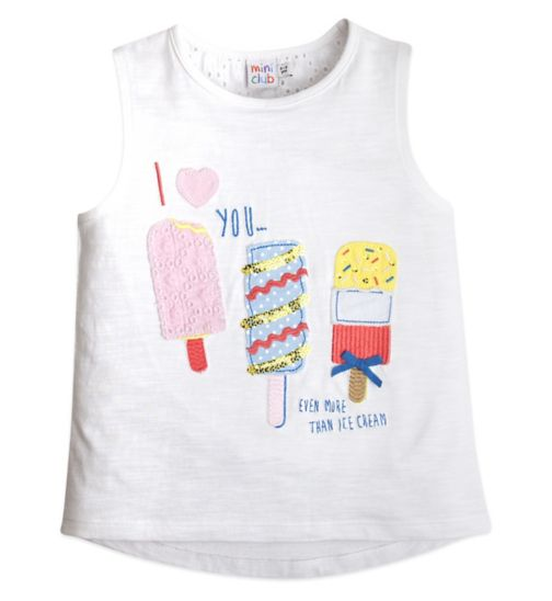 Mini Club Girls Tee Ice Cream