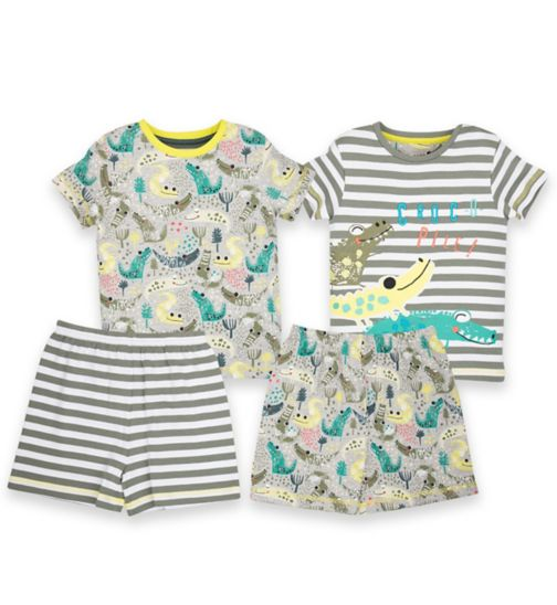 Mini Club Boys Shorts Pyjamas Crocodile 2 Pack