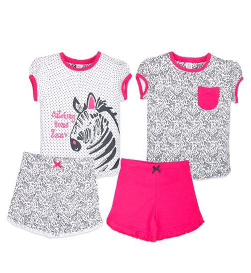 Mini Club Girls Shorts Pyjamas 2 Pack