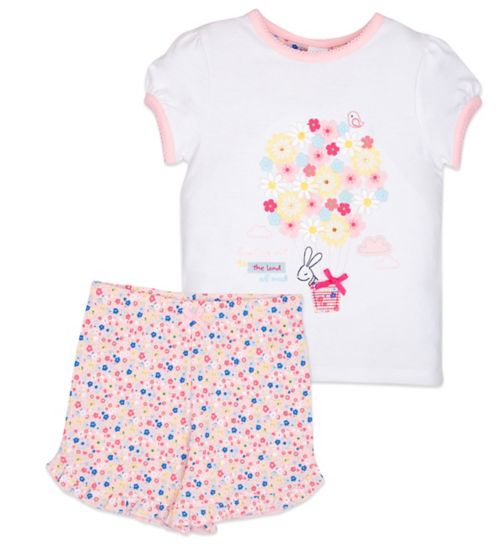 Mini Club Girls Shorts Pyjamas Bunny