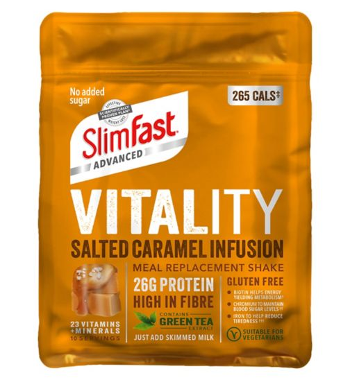 SlimFast Advanced Vitality Shake - Salted Caramel Infusion 440g