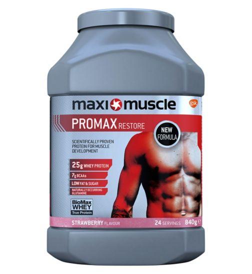 Maximuscle Promax Restore Protein Powder - Strawberry (840g)