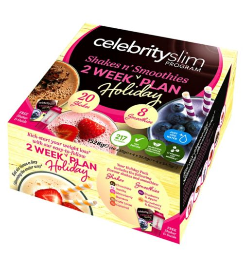 Celebrity Slim 2 Week Holiday Plan - Shakes and Smoothies