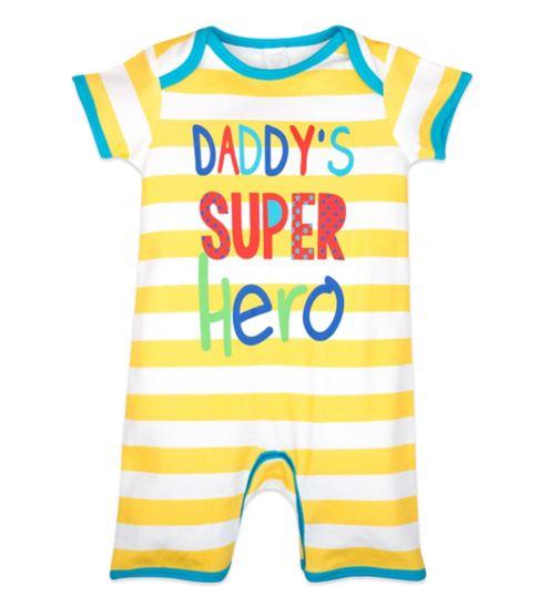 Mini Club Baby Romper Daddy's Super Hero