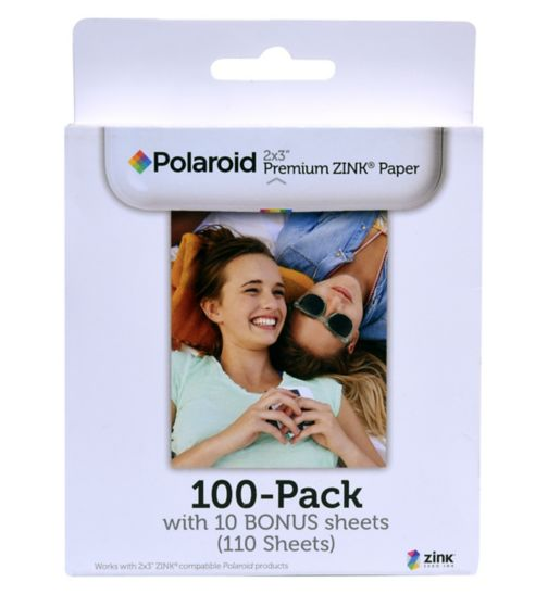 Polaroid Zink premium photo paper 2x3 inches 110 pack
