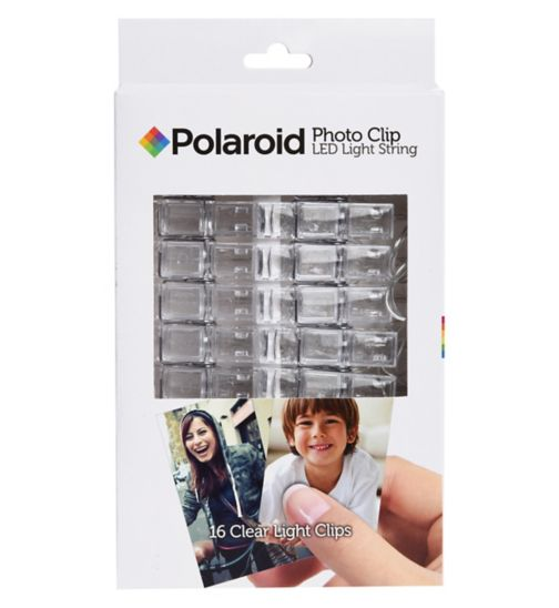 Polaroid photo clip led light string