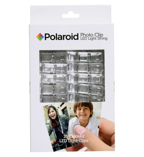 Polaroid photo clip multi-colour led light string