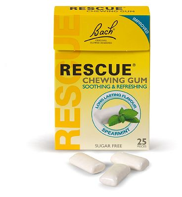 Bach Rescue Remedy Chewing Gum 25 Pieces Soothing & Refreshing Spearmint