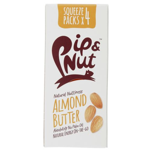 Pip & Nut Almond butter squeeze pack 4x30g