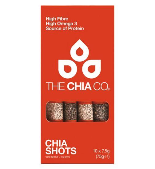Chia Seed black & white pouches 10 x 7.5g