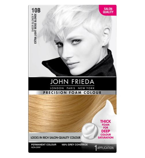 John Frieda Precision Foam Colour 10B Extra Light Beige Blonde 130ml