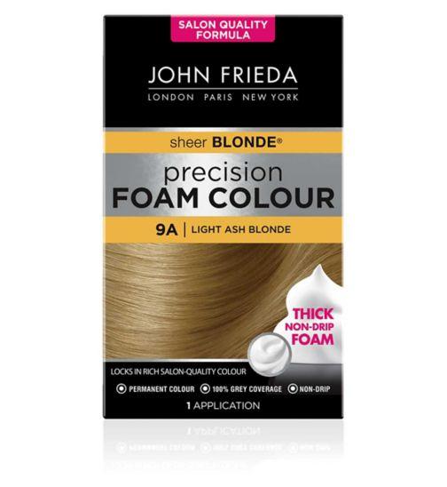 John Frieda Precision Foam Colour 9A Light Ash Blonde 130ml