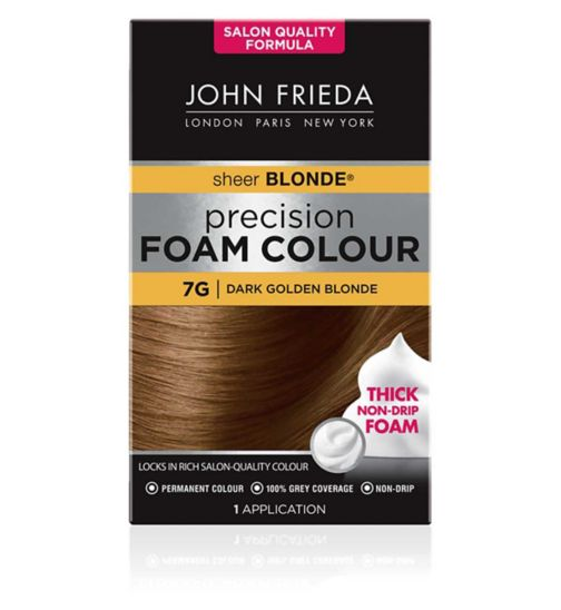 John Frieda Precision Foam Colour dark golden blonde 7G 130ml