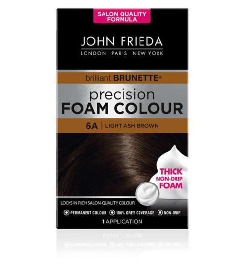 John Frieda Precision Foam Colour 6A Light Ash Brown 130ml