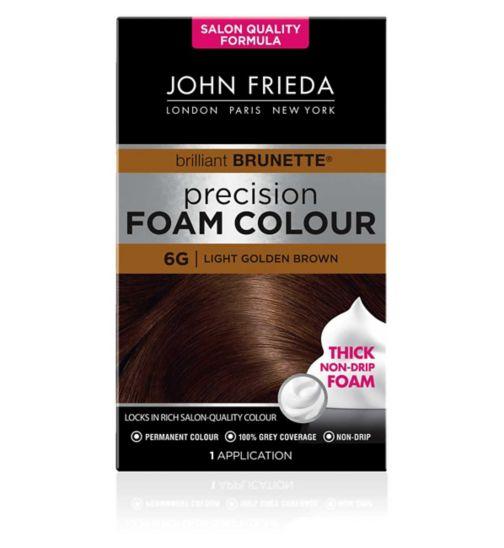 John Frieda Precision Foam Colour 6G Light Golden Brown 130ml