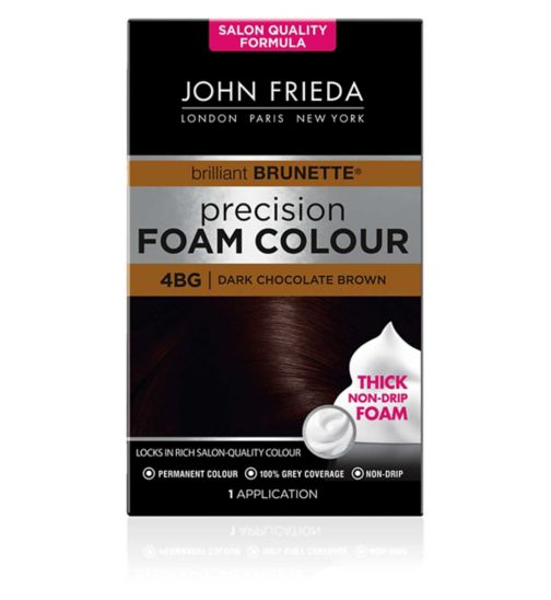 John Frieda Precision Foam Colour dark chocolate brown 4BG 130ml