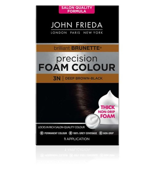 John Frieda Precision Foam Colour deep brown black 3N 130ml