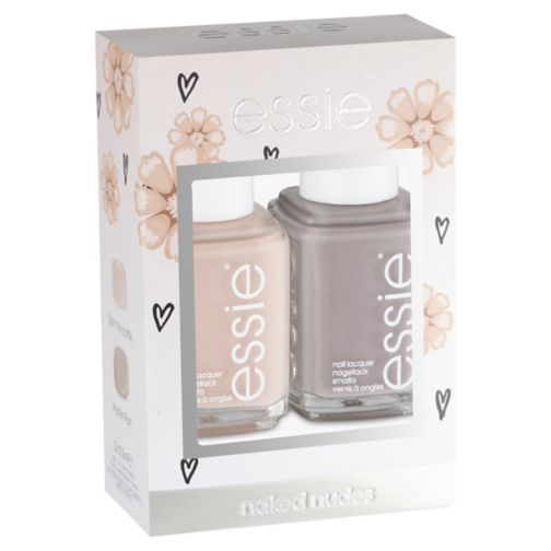 Essie duo kit  nudes spin the master plan nail varnish 27ml
