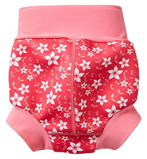 Splash About Happy Nappy Pink Blossom Large, 6-12 Months