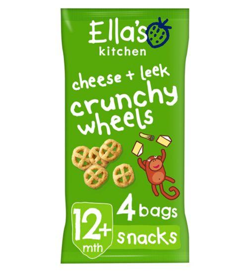 Ella's Kitchen Cheese + Leek Crunchy Wheels from 12 Months 4 x 15g (60g)