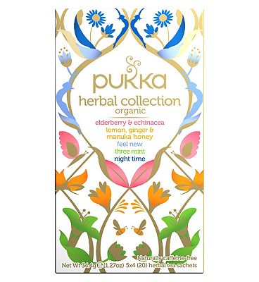 Pukka Organic Herbal Collection Teabags - 4 x 5