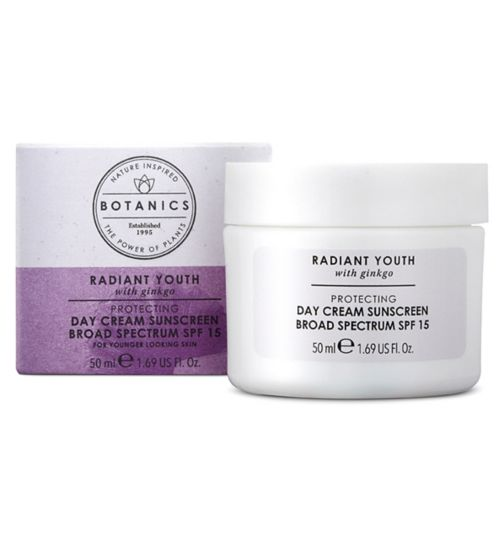Botanics Radiant Youth Protecting Day Cream SPF 15 50ml