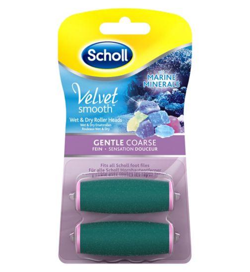 Scholl Velvet Smooth Gentle Coarse Roller Heads