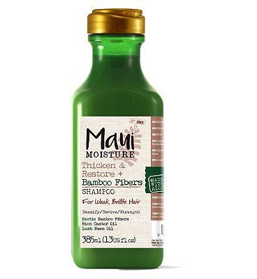 Maui Moisture Thicken & Restore Bamboo Fiber Shampoo 385ml